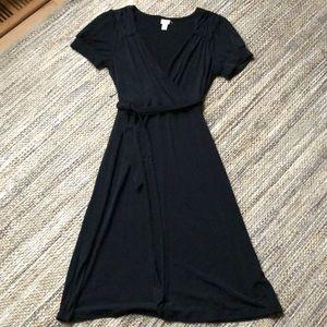 Merona black short sleeve women's dress